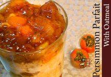 柿パフェ風オートミール