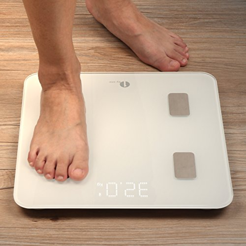 1byone 体重·体組成計·体脂肪計 スマートスケール 体重 / 体脂肪 / 体の水分 / 推定骨量 / 基礎代謝 / 内臓脂肪 / BMIなど測定可能 Bluetooth対応 iOS / Androidアプリで健康管理 7