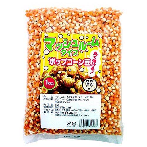 ハニー ポップコーン豆 マッシュルームタイプ 1kg