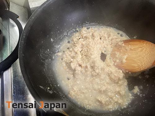 鍋でトロトロオートミール