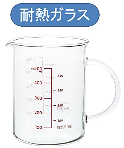 iwaki 把手付メジャーカップ 500ml KBT500T 4