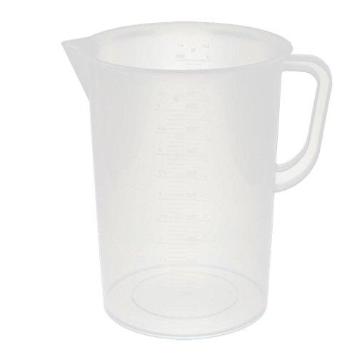 uxcell 計量カップ メジャーカップ 5000mL容量 プラスチック測定カップ 液体測定カップ 1個入り 9