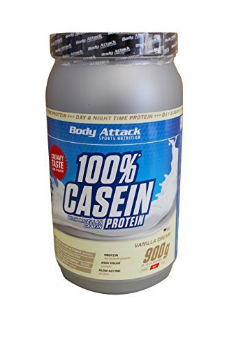 Body Attack Vanilla Cream 900g Casein Protein by Body Attack