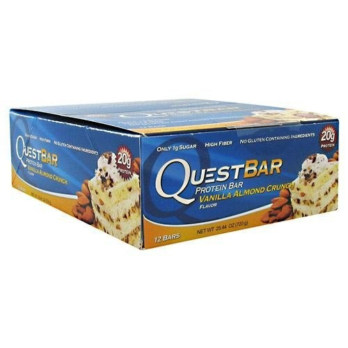 Quest Nutrition プロテインバー バニラアーモンドクランチ Vanilla Almond Crunch 12本セット 【並行輸入品】 Quest Nutrition Protein Bars 12packs 海外直送品 2